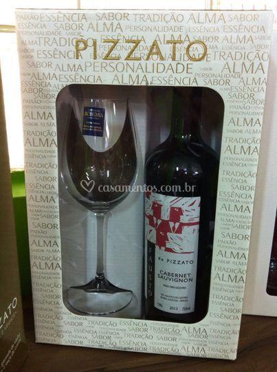 Kit Vinho e taça