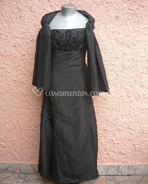 Vestido preto para festa