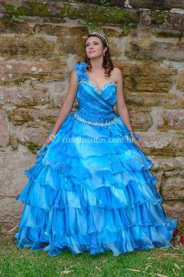 Debutante azul