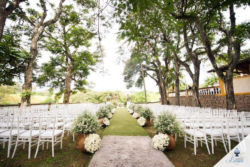 Um dos espaços para cerimônia