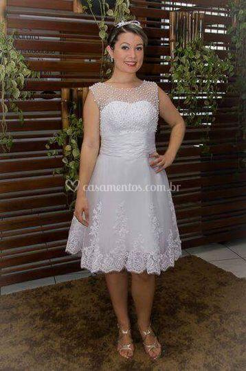 Vestido de noiva curto