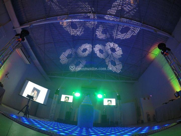 Pista led e pista dança 360º