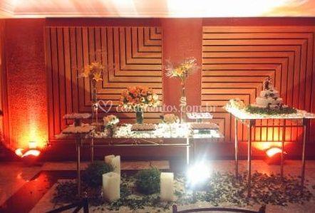 Iluminação da mesa de bolo