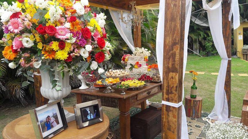 Decoração com Flores do Campo
