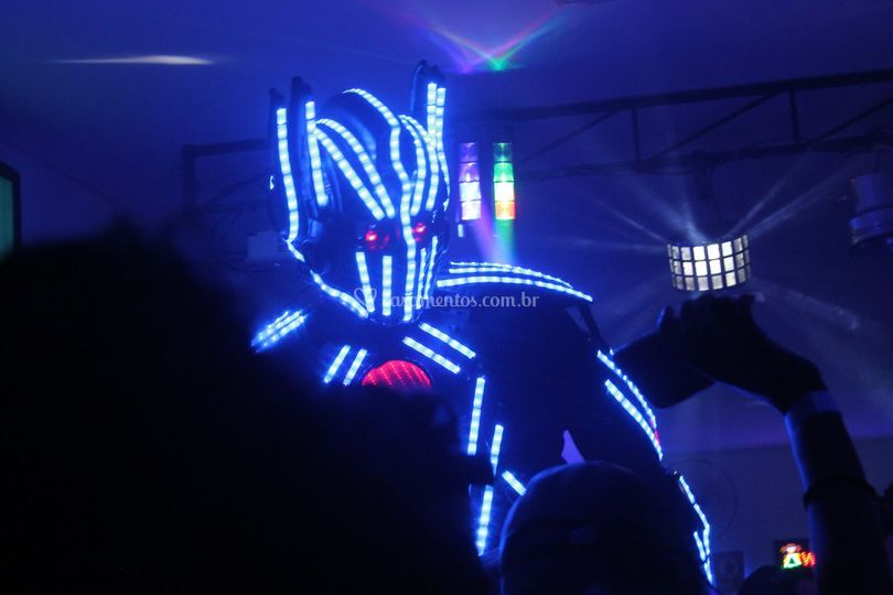 Mega robô de led