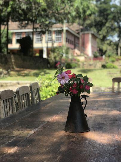 Detalhes almoço jardim