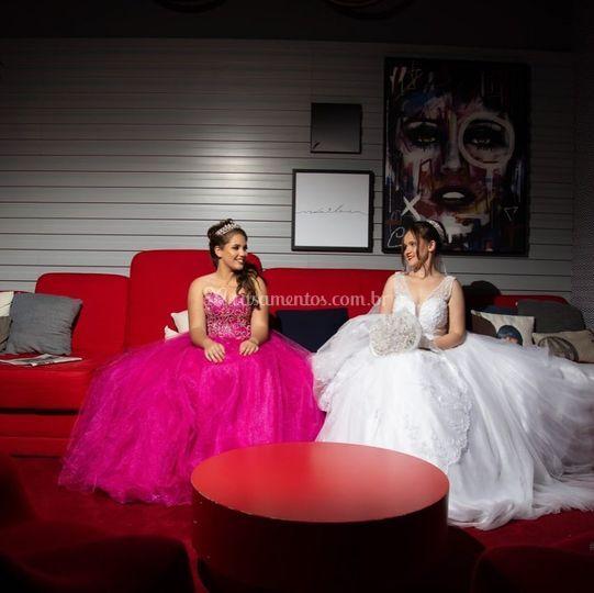 Noiva e debutante - hotel