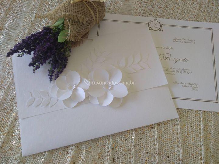 Convite Floral 3D