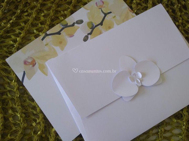 Convite Orquídea 3D