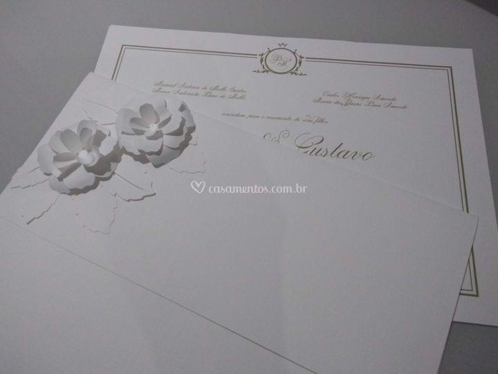 Convite Rose 3D