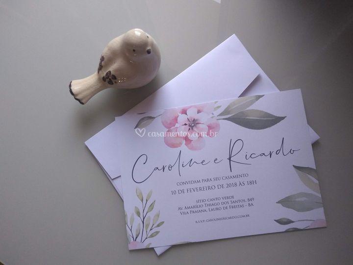 Convite Caroline