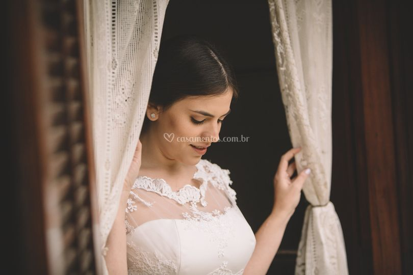 Noiva no chalé