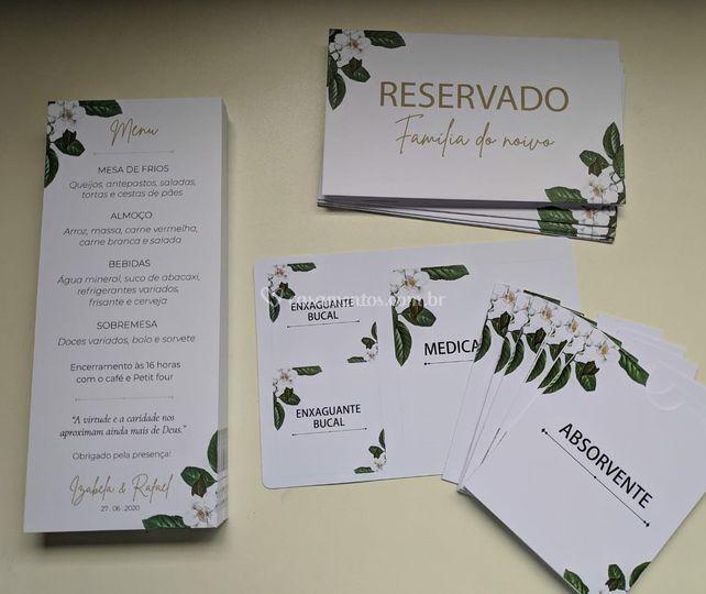 Menu + Reservado + Adesivos