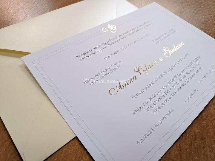 Convite com HotStamp