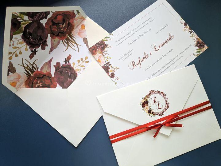 Convite forrado Marsala