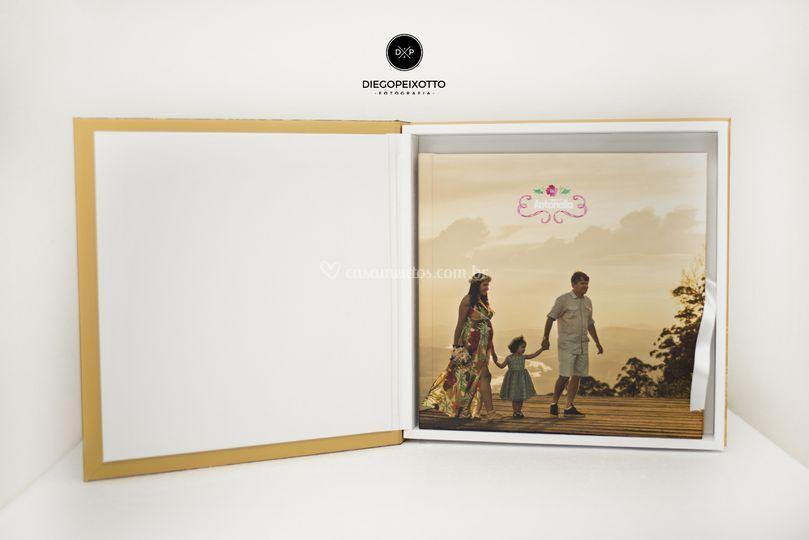 Cx e álbum da linha stamp