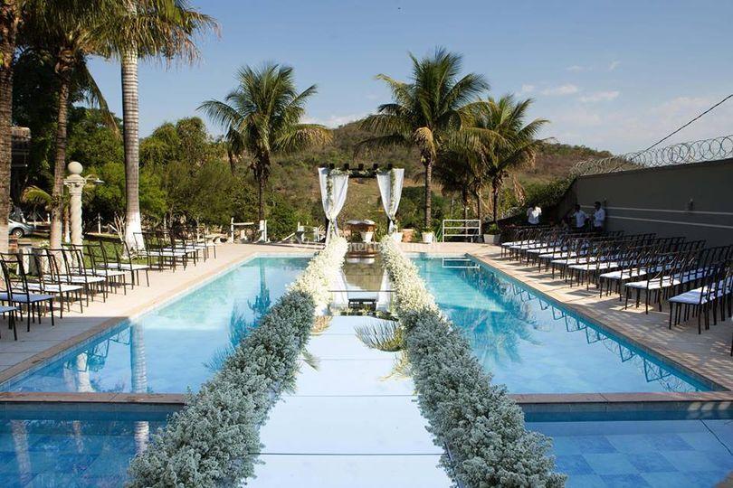 Passarela piscina cerimonia