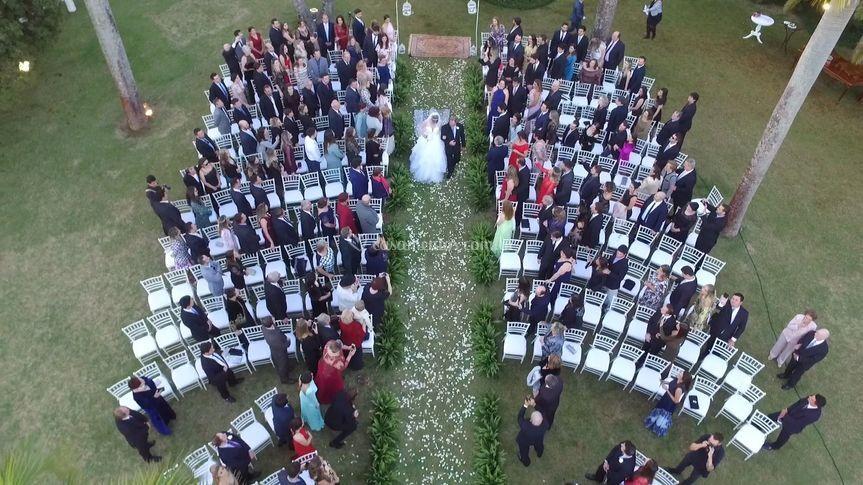 Drone - entrada da Noiva