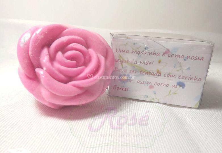 Rosa Caixa de Acetato