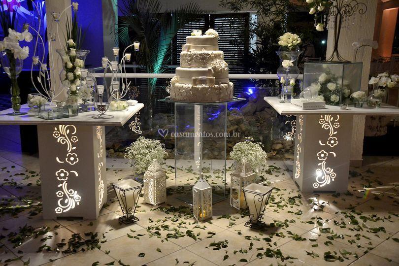 Decoração mesa de bolo
