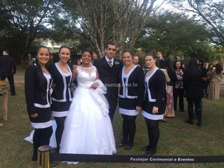 Registro com os noivos