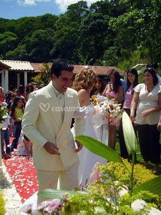 Um casamento ao ar livre
