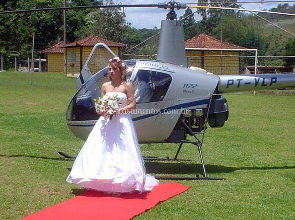 Chegada da noiva com estilo