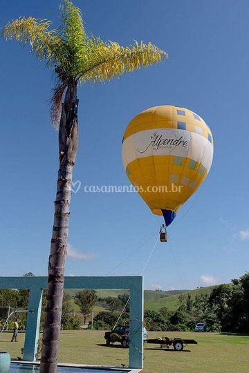 Espaço para chegada de balão