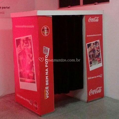 Cabine personalizada - coca