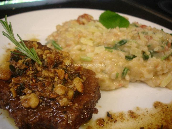 Filet Mignon com Risoto