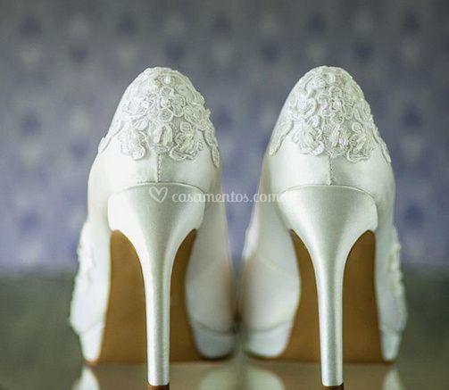 Sapatos para a noiva