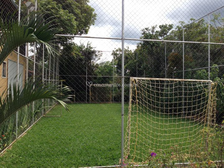 Campo telado e gramado