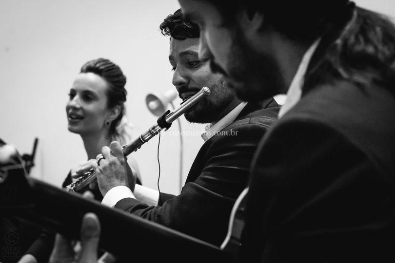 Trio acústico para cerimônia.