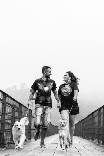 Pré wedding com os dogs