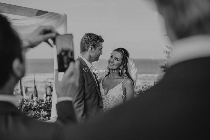 Olhar dos noivos