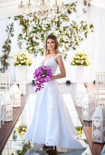 Paulo Santana vestido de noiva