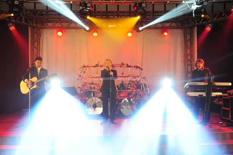 Uma banda no palco