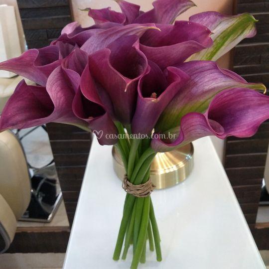 Buquê de flor única Callas