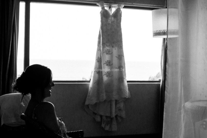 A noiva e o vestido