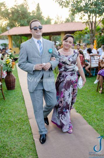 Noivo e sua mãe