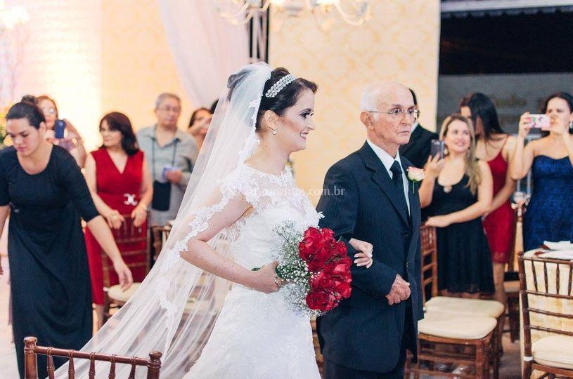 Noiva e seu pai
