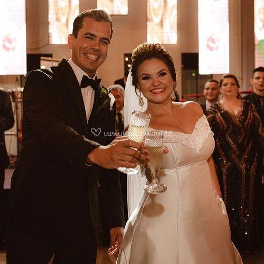 Noivos Cecilia e Gustavo