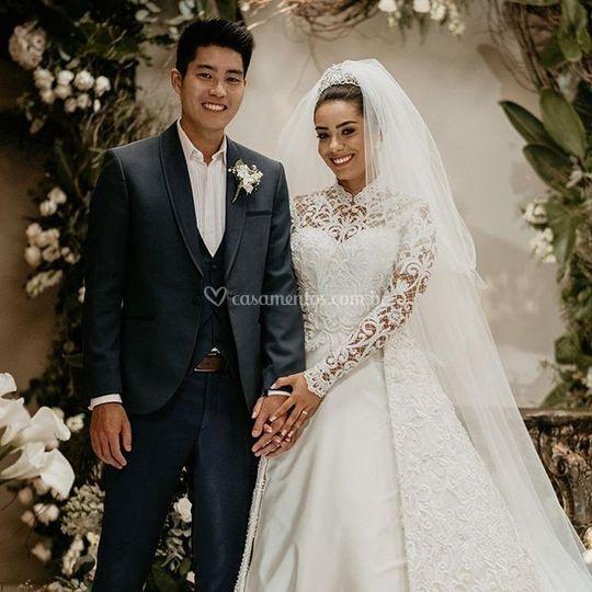 Noivos Fernanda e Leo