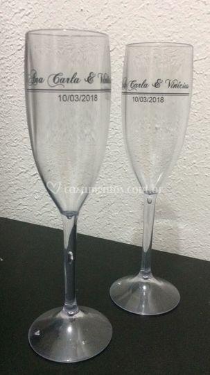 Taças Transparente com Preto