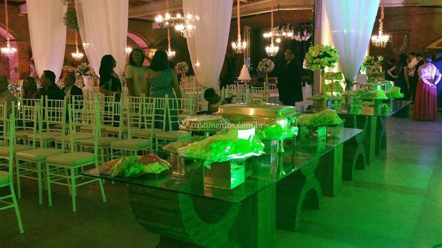 Espaço da festa
