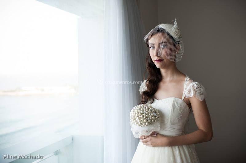 Noiva romântica e retrô