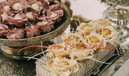 Carmesim Forminhas Decorativas