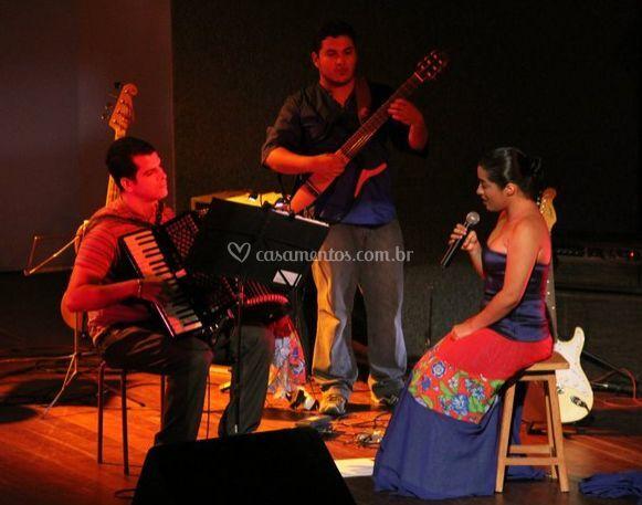 No palco