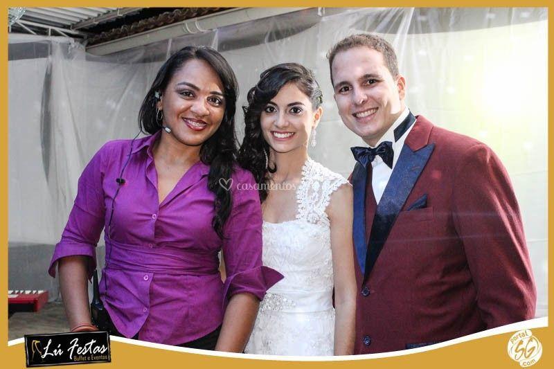Com os noivos Rebeca e Nailson