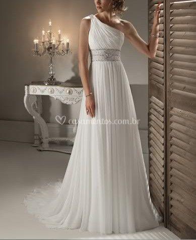 Vestido de Noiva de Um Ombro